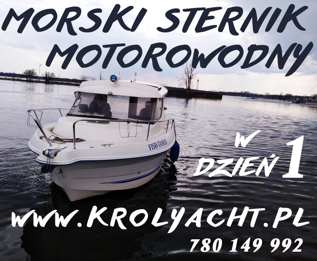 Morski Sternik motorowodny z egzaminem w 1 dzień (Patent)