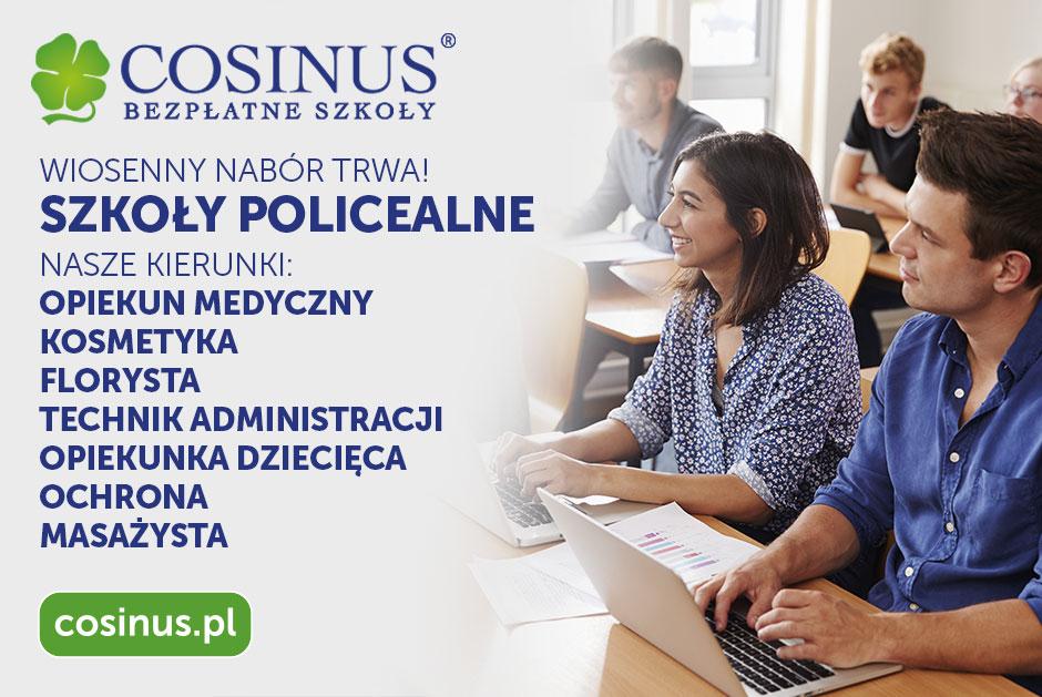 Bezpłatna Szkoła Policealna COSINUS - Wiosenny nabór !